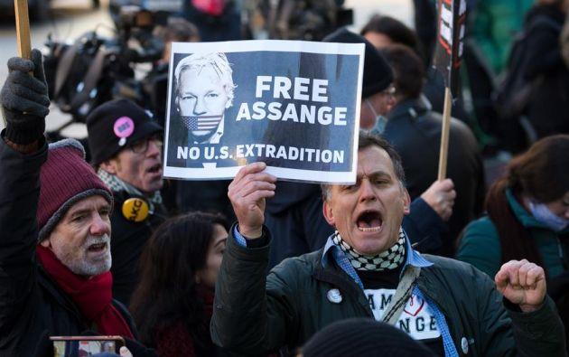 """La jueza señaló que Assange """"todavía no ha ganado su caso"""". Foto: EFE"""