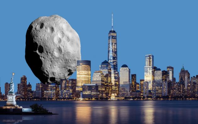 El asteroide mide alrededor de 1.345 pies de diámetro y viaja a más de 13.000 kilómetros por hora. Imagen: Space Reference.