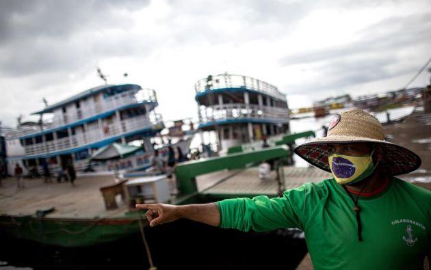Justamente en Manaos se están viviendo los momentos más duros de la pandemia en el continente con escenas de caos. Foto: EFE