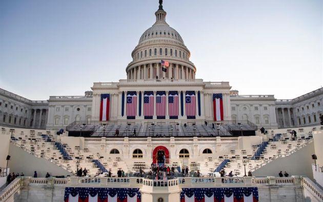 La ceremonia en el Capitolio culminará con un discurso que el nuevo presidente dirigirá a la nación. Foto: EFE