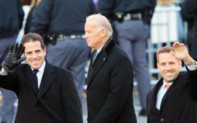 Joe Biden y sus hijos Hunter Biden y Beau Biden (fallecido en 2015), en el año 2009. Foto: ABC