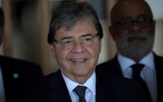 El ministro de Defensa de Colombia, Carlos Holmes Trujillo García, murió este martes en Bogotá a la edad de 69 años a consecuencia de la covid-19. Foto: EFE