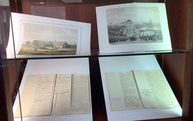 Un manuscrito de 74 páginas dictado y corregido por Napoleón sobre la batalla de Austerlitz. Foto: EFE.