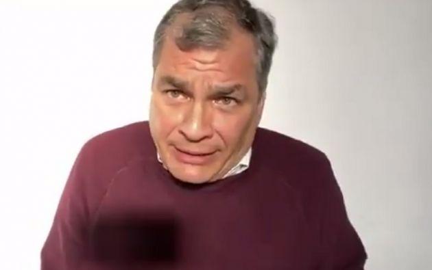 """Correa está seguro de que """"cuando cambie la situación política"""" los procesos de corrupción en su contra se van a derrumbar."""