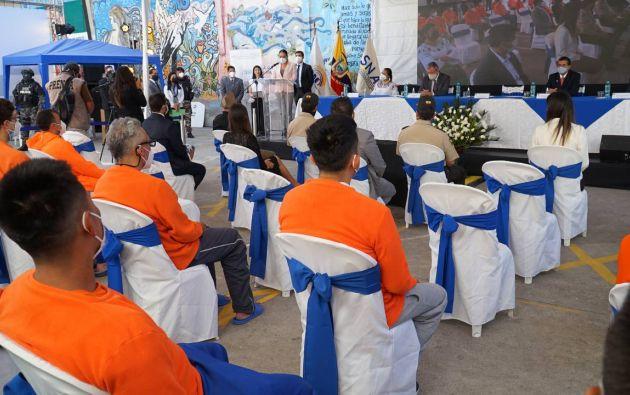 Inauguración de la jornada de elecciones generales 2021 en el sistema penitenciario a escala nacional. Foto: API