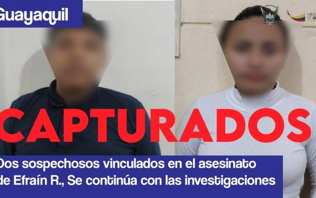 Un hombre y una mujer, sospechosos del asesinato del presentador de televisión.