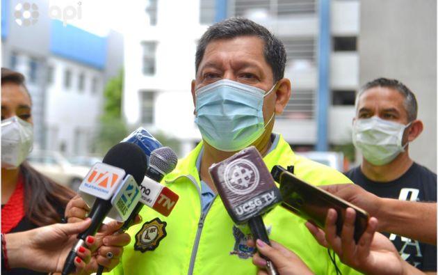 El jefe de Investigaciones de la Policía Nacional, Ramiro Ortega, brindó más detalles. Foto: Marcos Pin / API