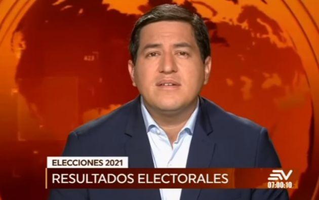 Andrés Arauz por la alianza Unión por la Esperanza (UNES).