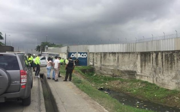 El cuerpo estaba en la zona de Pascuales. Foto: Cortesía