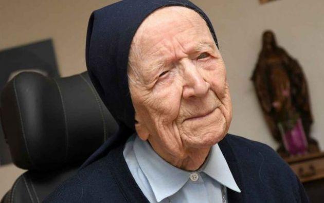 a monja está considerada la segunda persona viva verificada más anciana del mundo. Foto: Twitter