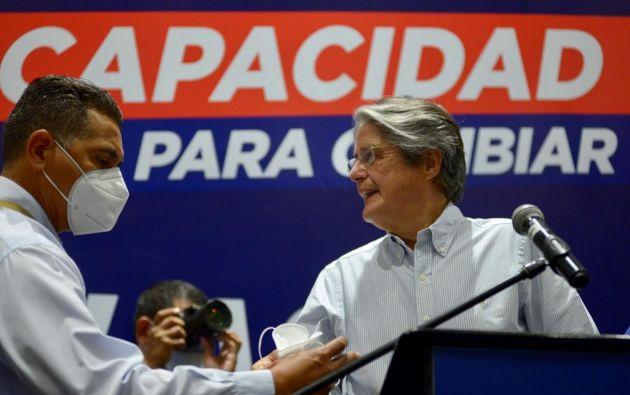 El candidato presidencial, Guillermo Lasso. Foto: API