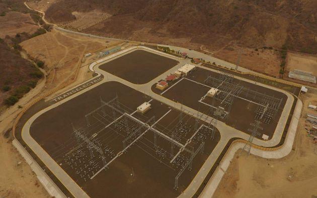 Subestación San Juan de Manta. Foto: Cortesía.