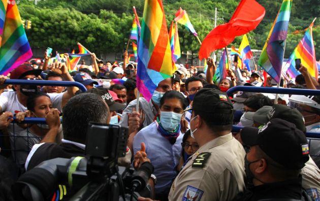"""""""Lo que están haciendo este rato es jugando con fuego, el CNE debe dar una explicación a los ecuatorianos"""", dijo Pérez. Foto: API"""
