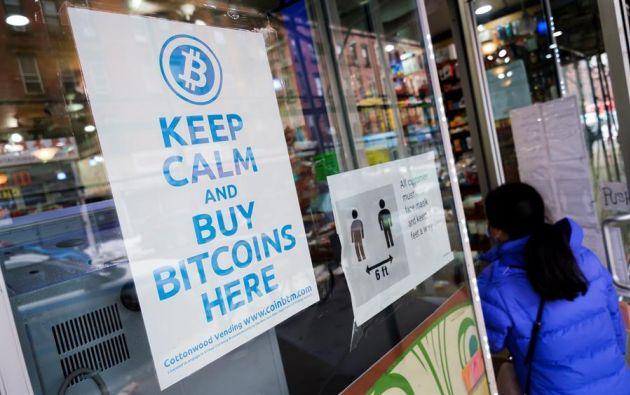 En Nueva York hay locales que reciben los bitcoins como forma de pago. Foto: EFE.