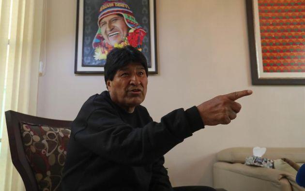 El plan retorno de Evo Morales se planificó en Cuba. Cuando fue electo presidente Luis Arce, Morales viajó a Bolivia. Foto: EFE.