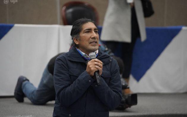 El candidato presidencial Yaku Pérez entregó las pruebas al CNE con las que justiica su pedido de reconteo de votos. Foto: API.