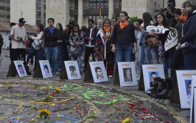 El Movimiento Nacional de Víctimas de Crímenes de Estado (Movice) se creó para pedir justicia por los crímenes realizados por el Estado. Foto: Movice