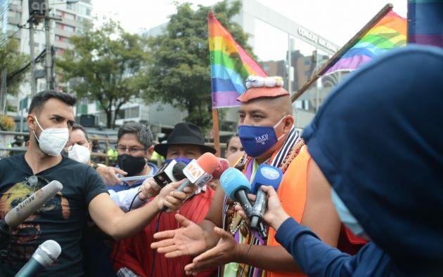 """Se ha organizado una caminata de indígenas hacia Quito, con el único ánimo de """"defender la democracia"""". Foto: API"""