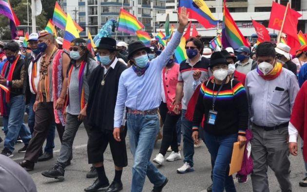 """""""No vamos a aceptar ningún infiltrado, y cualquiera que desafíe será sometido a castigo indígena"""", advirtió Marlon Santi."""