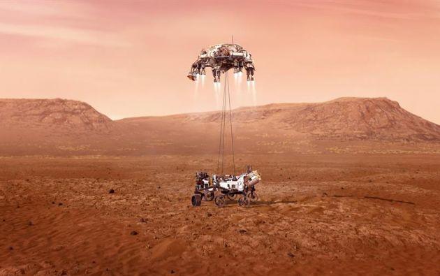 El vehículo buscará en Marte señales de vida microbiana.  Foto: EFE
