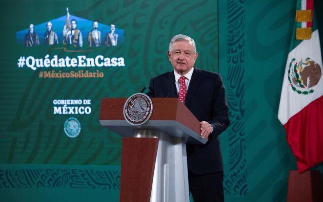 Andrés Manuel López Obrador, durante una rueda de prensa este viernes, en Palacio Nacional de la Ciudad de México. Foto: EFE