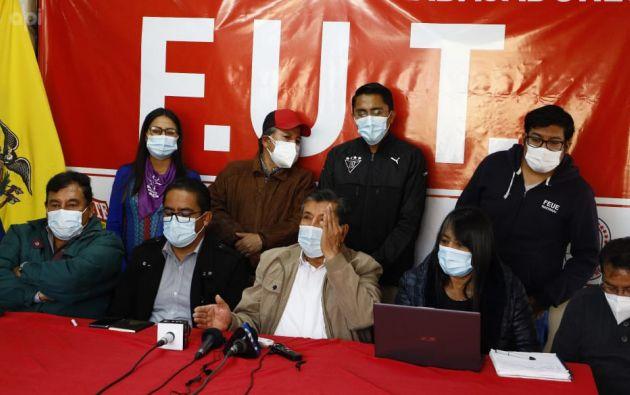 La movilización también se realizará en contra del accionar del Consejo Nacional Electoral, dijo el presidente del FUT. Foto: API.