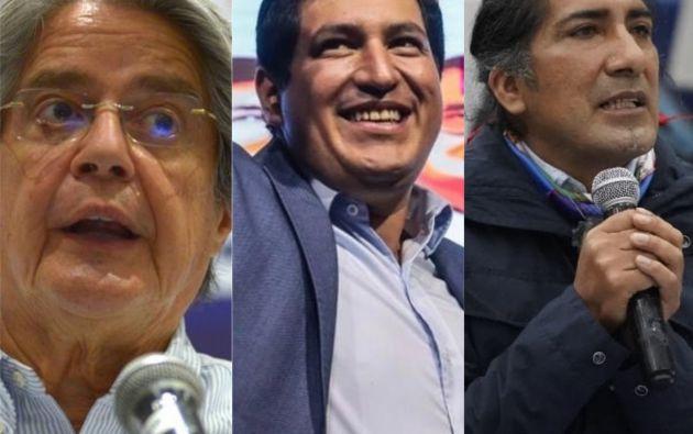 Arauz, Lasso y Yaku se pronuncian ante resultados del CNE.