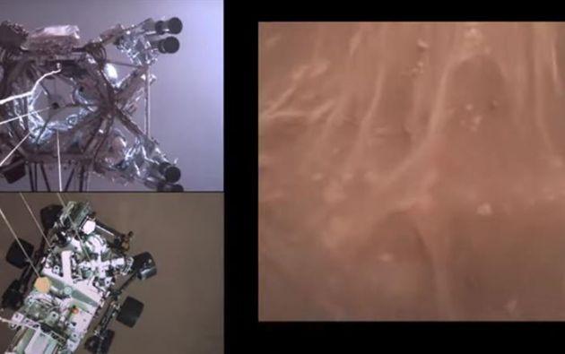 El vehículo Perseverance llegó con éxito a la superficie de Marte el 18 de febrero. Foto: EFE