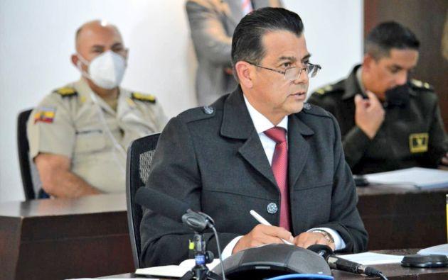 Patricio Pazmiño, Ministro de Gobierno.