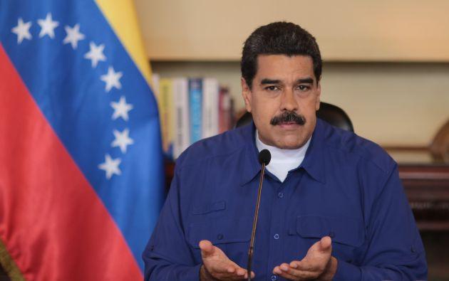 """""""Mi primera dosis, estoy vacunado"""", dijo Maduro. Foto: Archivo"""