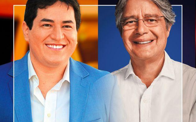 Andrés Arauz y Guillermo Lasso buscan la simpatía de los votantes moderados.