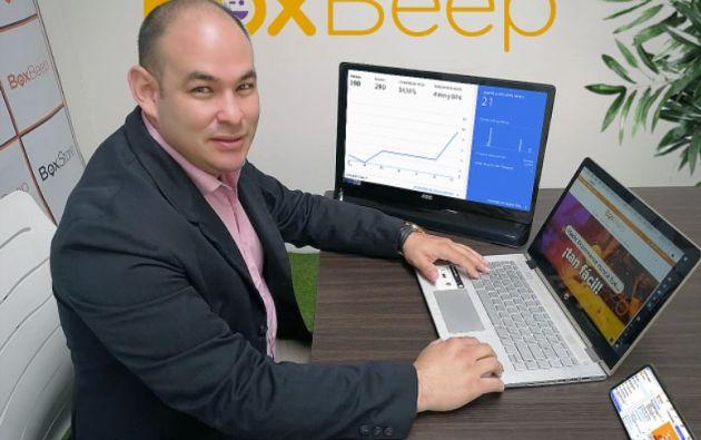 Pablo Jiménez, CEO de BoxBeep, comenta que los emprendimientos están haciendo uso de la análitica para crecer. Foto: Cortesía.