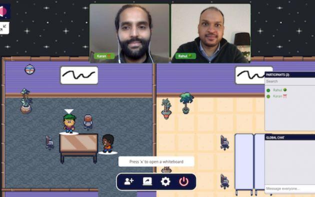 Cosmos Video combina las mecánicas de un juego con las de una plataforma de videollamadas. Foto: Cosmos Video