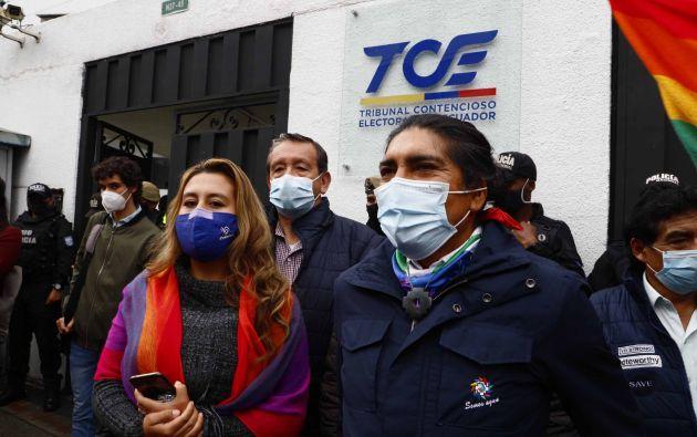 Quito.- Yaku Pérez presenta recurso contensioso administrativo en el TCE, el 1 de marzo. Foto: API