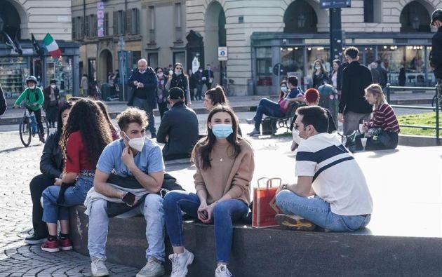 Italia registra desde hace días más de 20.000 casos diarios de contagios de coronavirus. Foto: EFE