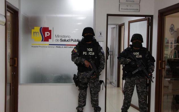 """Instalaciones de la gerencia del hospital de Quito """"Pablo Arturo Suárez""""."""
