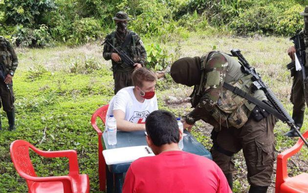 La liberación se realizó en zona rural del departamento de Putumayo, fronterizo con Ecuador. Foto: @CICR_co