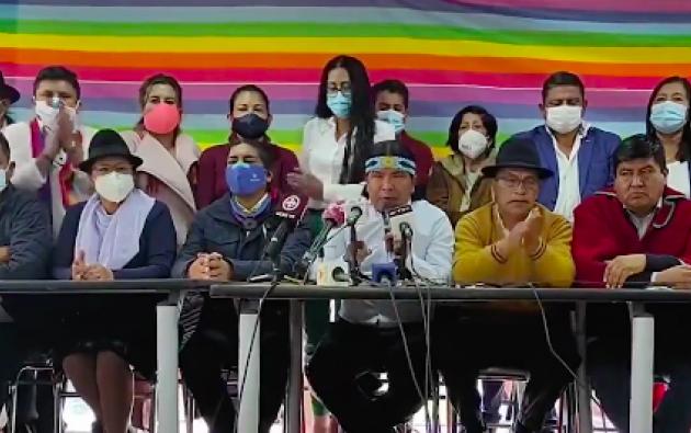 Marlon Santi llamó a los ecuatorianos a rayar el nombre Yaku en las papeletas.