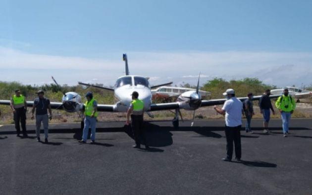 La avioneta permanecía en cadena de custodia de la Policía Judicial. Foto: Fiscalía