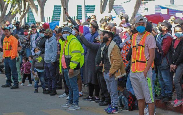 Incertidumbre se percibe a los largo de la frontera mexicana por el aumento del flujo de migrantes y las nuevas políticas del Gobierno estadounidense de Joe Biden. Foto: EFE