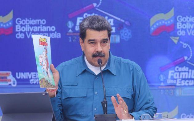 La red social informó que Maduro incurrió en las políticas de difusión de noticias falsas. Foto: EFE