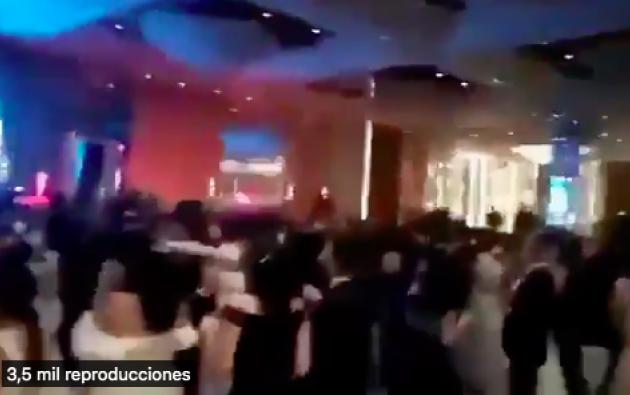 En redes sociales circula un video de la fiesta sin medidas de bioseguridad.