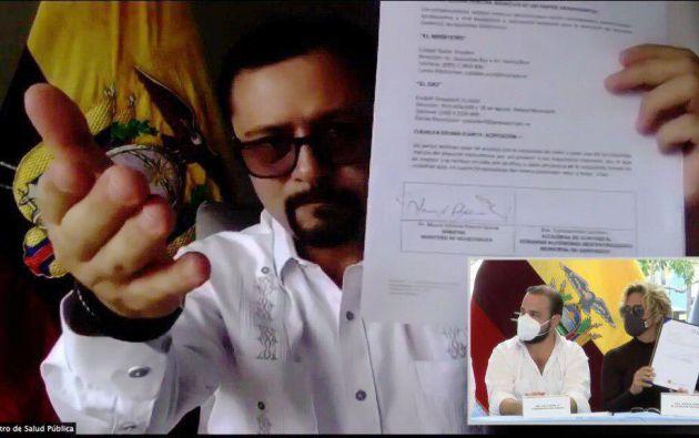 Municipio de Guayaquil firma convenio con MSP para inmunizar a la población.