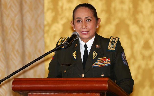 """La responsable recalcó que la labor de la Policía """"fue profesional, leal y constitucional"""". Foto: EFE"""