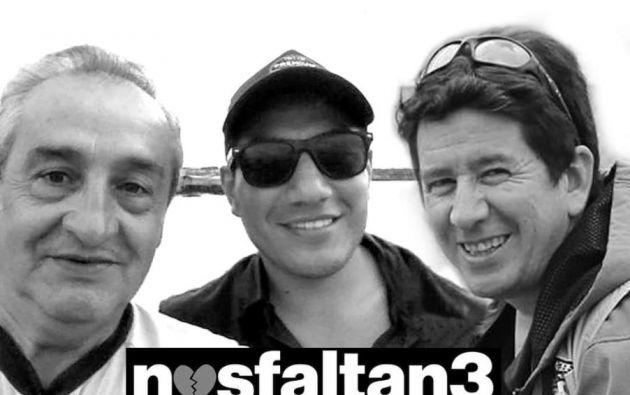 Las víctimas fueron el periodista Javier Ortega, el fotógrafo Paúl Rivas y el conductor Efraín Segarra.