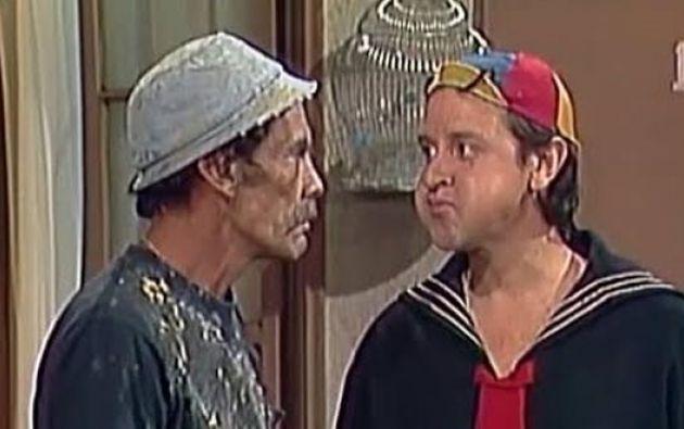 Quico (Carlos Villagrán) y don Ramón (Ramón Valdés) eran buenos amigos. Foto: Captura
