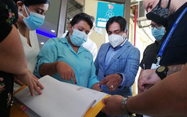 Las autoridades realizaron una revisión técnica de las instalaciones del ITB para planificar el proceso de vacunación,