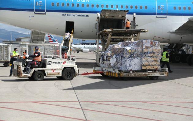 Llegaron a Ecuador 66.690 nuevas dosis de Pfizer. Foto: @lenin