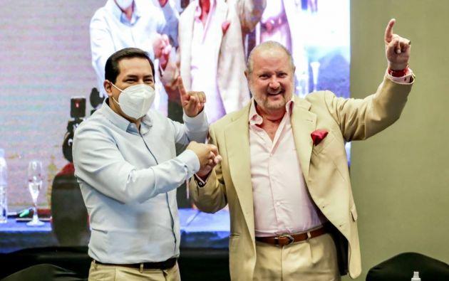 El empresario y excandidato presidencial, Isidro Romero, se reunió con Andrés Arauz.