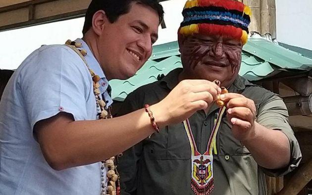 Jaime Vargas reconoció públicamente el apoyo de las nacionalidades indígenas al candidato Andrés Arauz, a pesar de que los movimientos políticos indígenas se ratifican en el voto nulo ideológico que promueven.